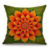 Flower Pattern Sofa Cotton Linen Throw Pillow Case - COLORMIX