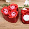 Valentine Gift Confessions of Love Artificial Roses With Iron Box - WINE RED