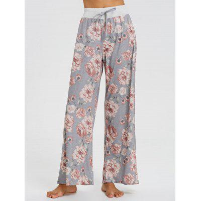 Buy FLORAL S High Waisted Floral Printed Palazzo Pants for $21.11 in GearBest store