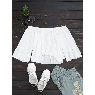 Off The Shoulder Ruffled Crop Blouse