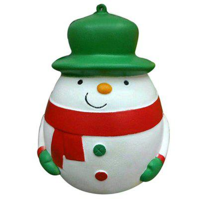 Slow Recovery Plump Snowman Squeeze Stress Reliever Toy