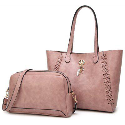 Buy 2 Pieces Braid Shoulder Bag Set, PINK, Bags & Shoes, Women's Bags, Crossbody Bags for $43.66 in GearBest store