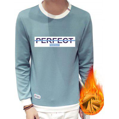 Crew Neck Perfect Print Flocking Sweatshirt