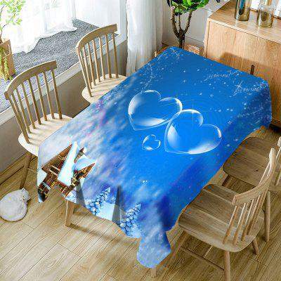 Snowscape Hearts Pattern Tissu de table imperméable