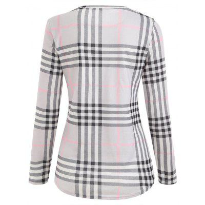 Plaid Tunic T-shirtBlouses<br>Plaid Tunic T-shirt<br><br>Collar: Round Neck<br>Material: Polyester<br>Package Contents: 1 x T-shirt<br>Pattern Type: Plaid<br>Season: Fall, Spring<br>Shirt Length: Regular<br>Sleeve Length: Full<br>Style: Casual<br>Weight: 0.2500kg
