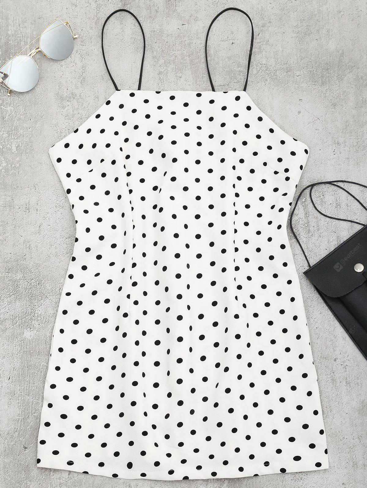 Polka Dot Mini Spaghetti Strap Dress