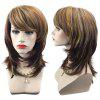 Peruca Sintética Natural Straight Straight Colormix Layered Medium Side Bang - COR MISTURA