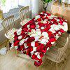 Valentine's Day Petals Print Waterproof Table Cloth - RED AND WHITE