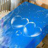 Snowscape Hearts Pattern Waterproof Table Cloth - BLUE