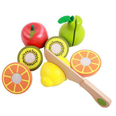 Early Educational Playhouse Toys Wooden Cutting Fruit