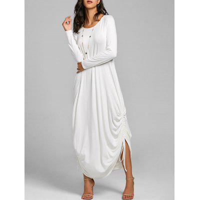 Drawstring Maxi Cocoon Jersey Dress