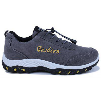 Letter Skidproof Faux Suede Sneakers