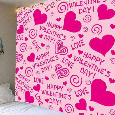 Valentine's Day Heart Printed Wall Hanging Tapestry