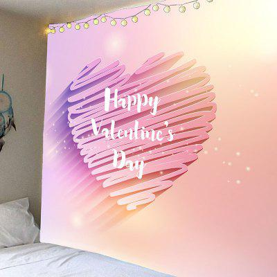 Valentine's Day Shiny Heart Printed Wall Hanging Tapestry