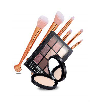5 Pcs Makeup Brush+9 Colors Eyeshadow Palette+Loose PowderMakeup Brushes &amp; Tools<br>5 Pcs Makeup Brush+9 Colors Eyeshadow Palette+Loose Powder<br><br>Brush Hair Material: Synthetic Hair<br>Category: Makeup Brushes Set<br>Package Contents: 1 x Eyeshadow Palette, 1 x Loose Powder, 5 x Makeup Brushes<br>Season: Fall, Spring, Summer, Winter<br>Weight: 0.2376kg