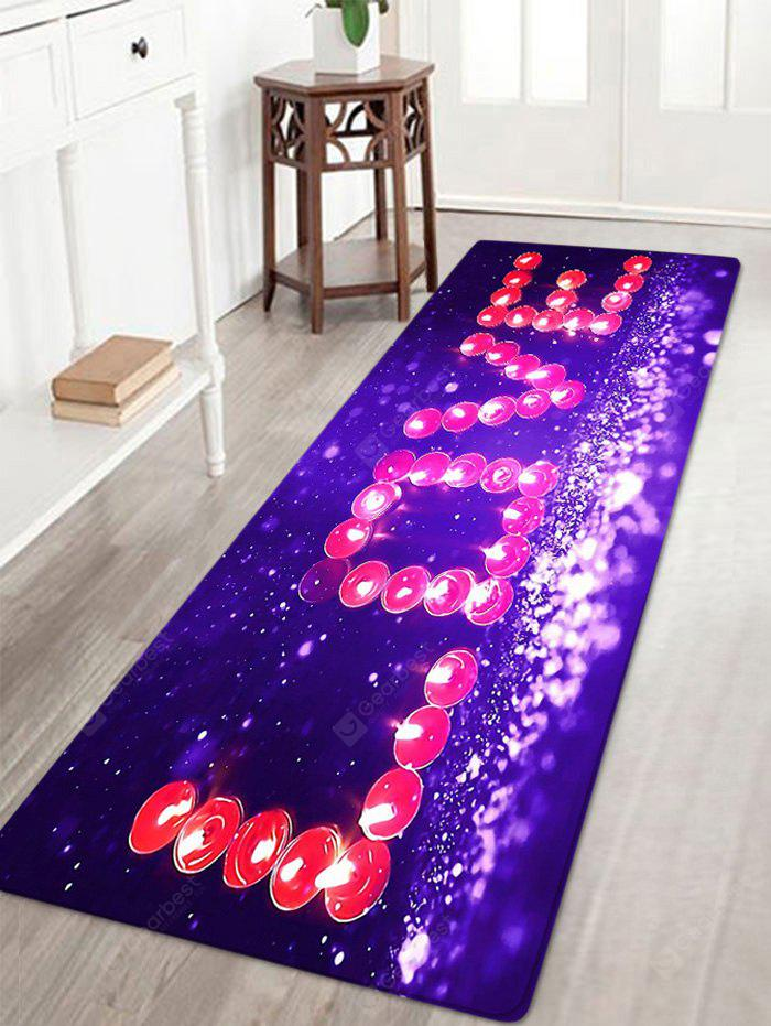 Dia dos Namorados Love Pattern Water Absorption Area Rug