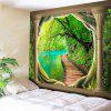 Natural Landscape Print Wall Hanging Tapestry - GREEN