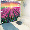 Window Scenery Wall Hanging Flower Field Print Tapestry - COLORMIX