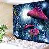 Magic Forest Pattern Wall Hanging Tapestry - BLUE
