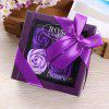 Artificial Soap Rose Flower In A Box Valentine's Day Gift - PURPLE