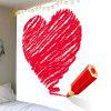Valentine's Day Crayon Heart Printed Wall Tapestry - RED