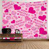Valentine's Day Heart Printed Wall Hanging Tapestry - PINK
