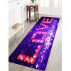 Dia dos Namorados Love Pattern Water Absorption Area Rug - ROXO