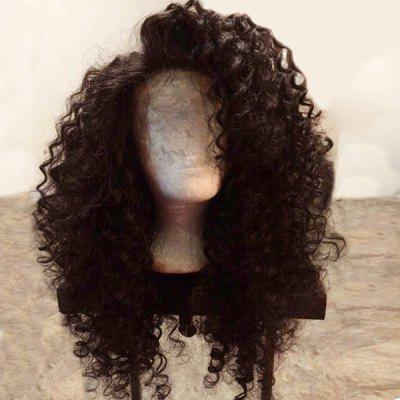 Long Side Parting Shaggy Deep Wave Lace Front Synthetic Wig