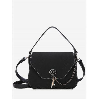 Stitching Faux Leather Handbag With Strap