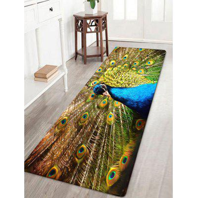Tapis de Surface Absorbant Motif Paon
