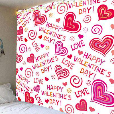 San Valentino Full Heart Printed Valentine's Day Wall Hanging Tapestry