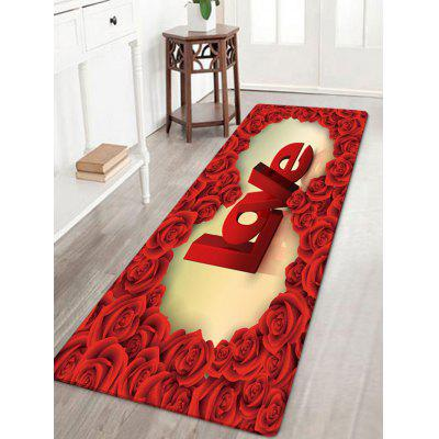 Tapis d'Absorption d'eau Rose Love Pattern de la Saint-Valentin