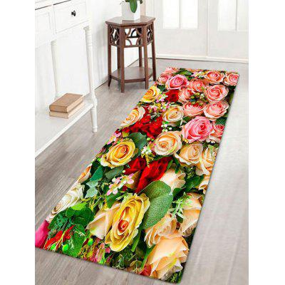 Valentine's Day Roses Motif Absorption d'eau tapis