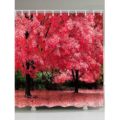 Natural Scenery Print Waterproof Polyester Shower Curtain