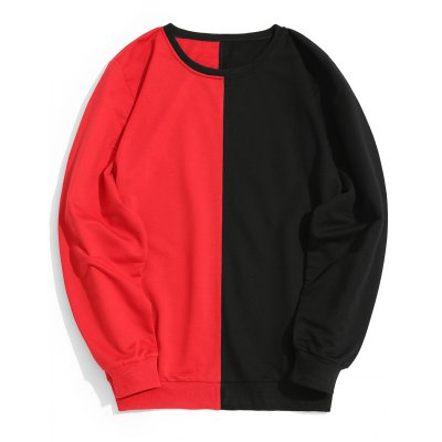 Two Tone Crew Neck Mens Sweatshirt