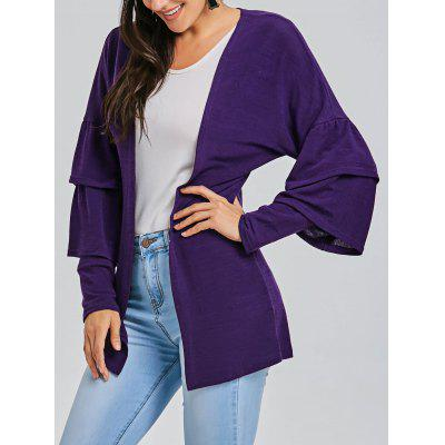 Bell Sleeve Open Front Tunic Cardigan
