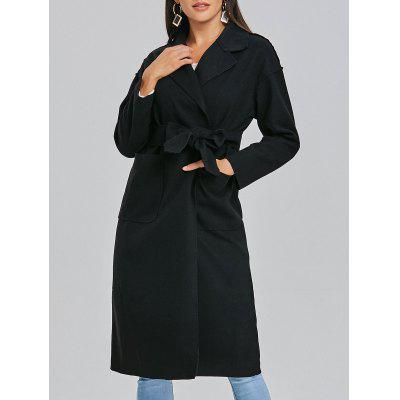 Tasche Midi Wrap Wool Coat