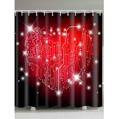 Valentine's Day Heart Labyrinth Printed Waterproof Shower Curtain