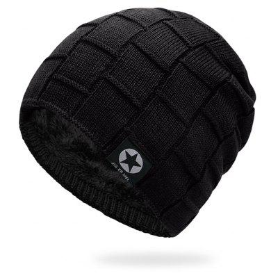 Outdoor Star Label Embellished Thicken Slouchy Beanie