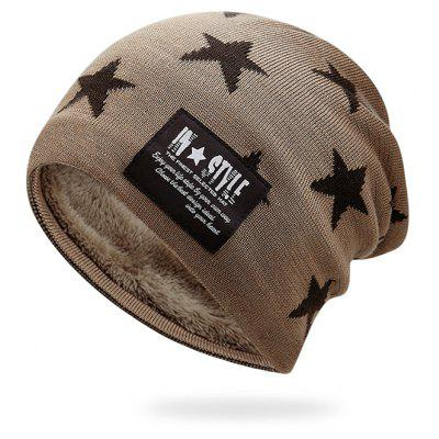 Outdoor Star Pattern Decorated Thicken Knitted Beanie