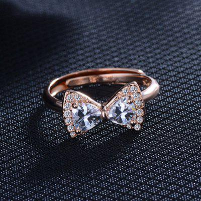 Strass Bowknot Fingerring