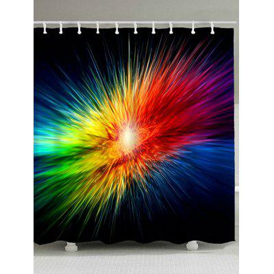 Abstract Colorful Light Waterproof Shower Curtain