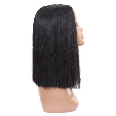 Short Center Parting Straight Synthetic Lace Front Wig beauty peruvian straight lace front wig