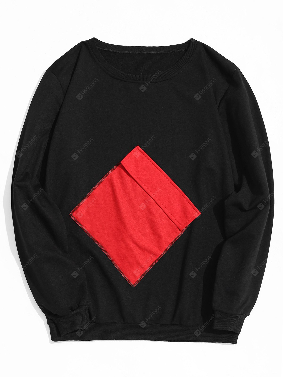 Crew Neck Flap Pocket Sweatshirt