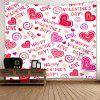 San Valentino Full Heart Printed Valentine's Day Wall Hanging Tapestry - ROSA