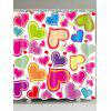 Valentine  'Day Heart Of Love Pattern Shower Curtain - COLORIDO