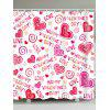 Love Confession Letters Printed Valentine's Day Waterproof Shower Curtain - COLORIDO
