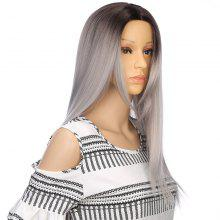 Long Middle Part Straight Ombre Synthetic Wig