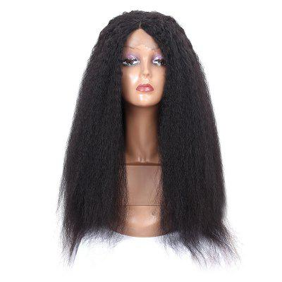 Long Center Parting Shaggy Afro Synthetic Lace Front Wig