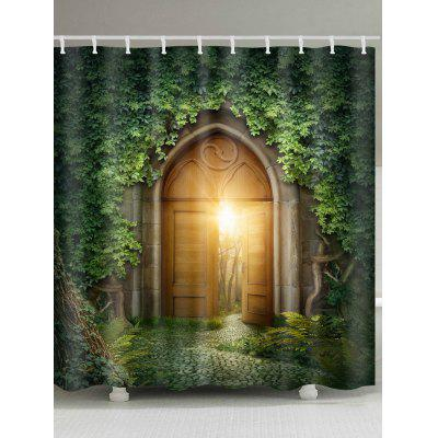 Creepers Gate Print Waterproof Fabric Shower Curtain